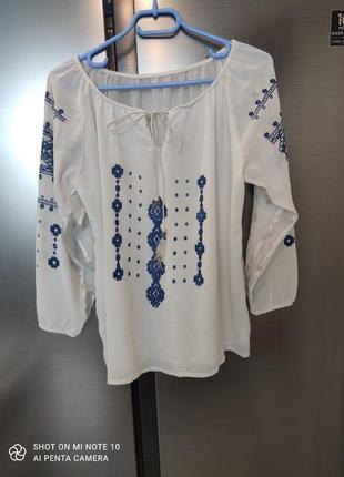 Очень интересная блузка,а-ля вышиванка