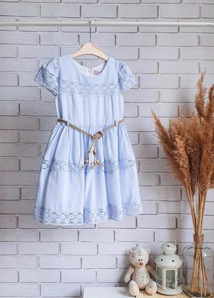Голубое летнее платье на девочку