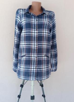 Женская рубашка жакет из 100% хлопка 48 размера