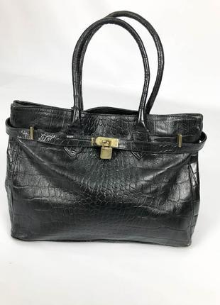 Hermes paris vintage винтажная кожаная женская сумка