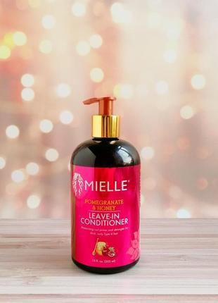 Несмываемый кондиционер ливин  без силиконов mielle pomegranate and honey