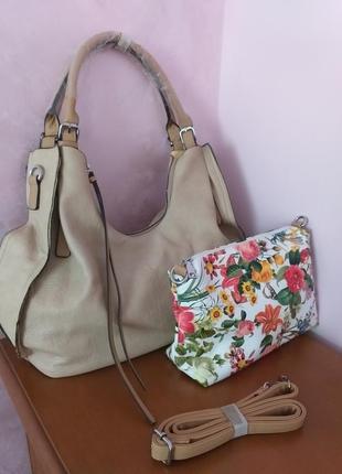 Симпатичний комплект сумок 2 в 1/италич
