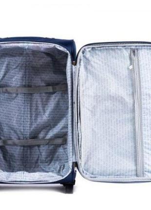Чемодан дорожный (дорожная сумка) тканевый на 2 колёсах маленький 1708 s wings (коричневый / coffee)3 фото