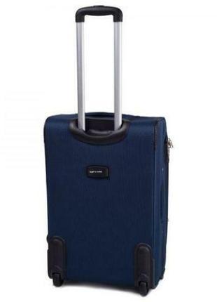 Чемодан дорожный (дорожная сумка) тканевый на 2 колёсах маленький 1708 s wings (коричневый / coffee)2 фото
