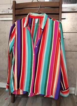 Яркая полосатая рубашка amisu