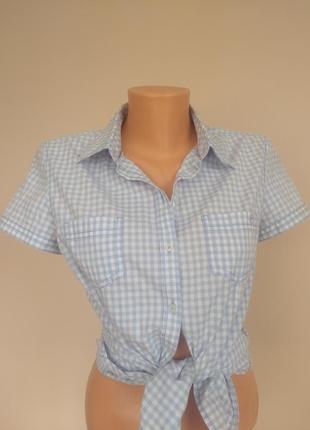 Хлопковая клетчатая летняя рубашка в клетку от s.oliver 36 с