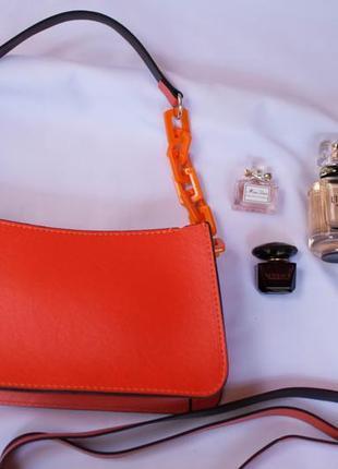 Сумочка женская adriana. летняя сумка 2021. коктейльная сумочка оранжевая