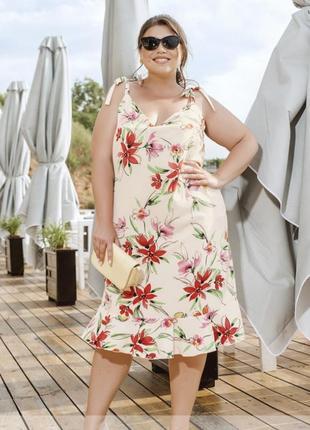 Романтическое летнее платье с кокетливыми тонкими бретелями  💕