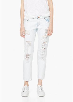 Джинсы mango ,, белые рваные джинсы mango