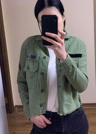 Джинсовая рубашка пиджак жакет