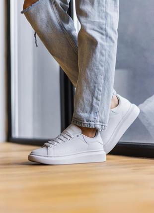 Alexander mcqueen white кроссовки александр маккуин наложенный платёж купить