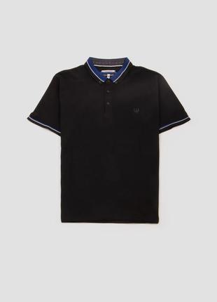 Поло тенниска футболка с воротником хлопковая с контрастным воротом benson & cherry