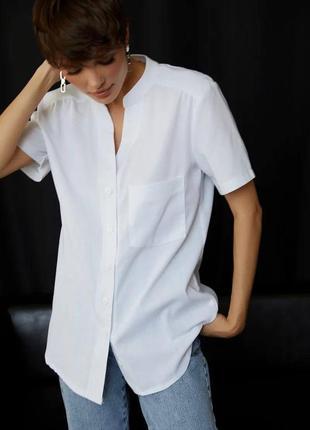 👑 прямая рубашка с коротким рукавом