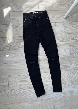Скинни джинсы на высокой посадке tally weijl zara
