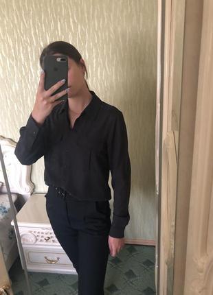 Сіра напівпрозора сорочка