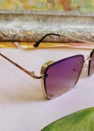 Модные брендовые женские солнцезащитные очки в металлической оправе 2021