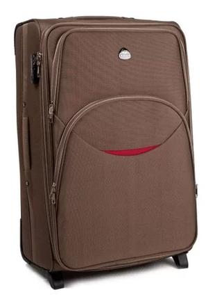 Чемодан дорожный (дорожная сумка) тканевый на 2 колёсах средний 1708 m wings ( песочный / yellow )