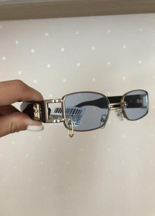 Крутые солнцезащитные стильные очки с голубой линзой 💙
