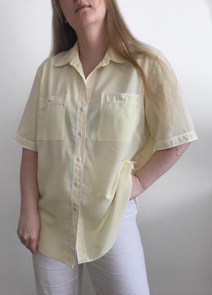 Винтажная блуза biaggini roma желтый лимонный винтаж