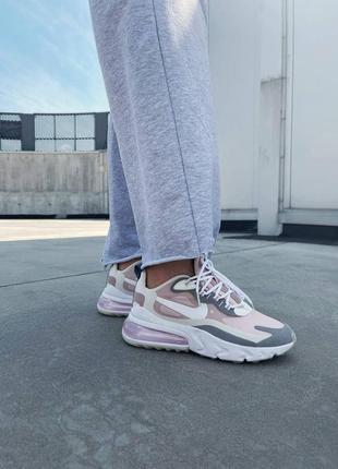 Nike react 270 pink grey кроссовки найк  наложенный платёж купить