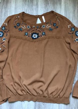 Вышиванка женская, этно одежда, цветочный орнамент