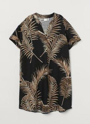 Льняное платье туника 🌿 h&m 🌿 коллекции 2021