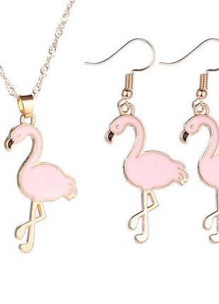 Набор украшений фламинго