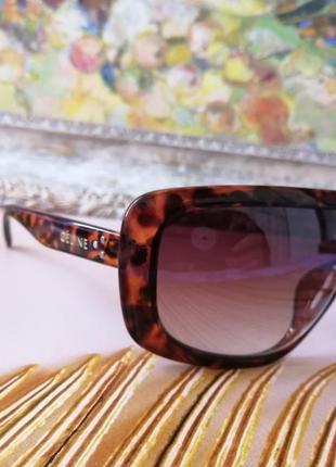 Эксклюзивные брендовые солнцезащитные женские очки маска 2021 в черепаховой оправе3 фото
