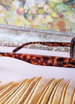 Эксклюзивные брендовые солнцезащитные женские очки маска 2021 в черепаховой оправе4 фото
