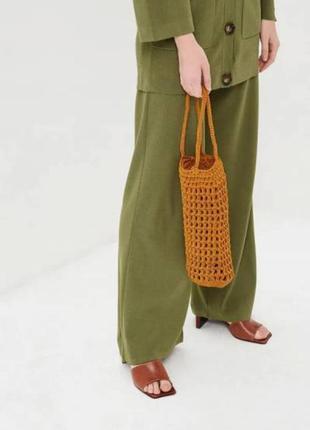 Плетенная вязаная сумка тренд