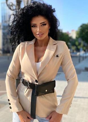 Шикарный классический пиджак с поясом