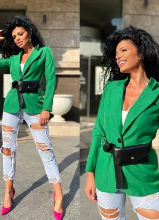Классический пиджак яркий с поясом