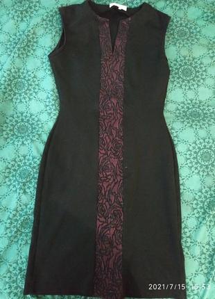 Стильное тёплое силуэтное платье,размер с/м.
