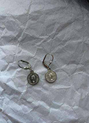Сережки с монетками