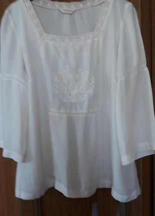 Шикарна брендова блуза, оверсайз,  100% котон ,indigo.