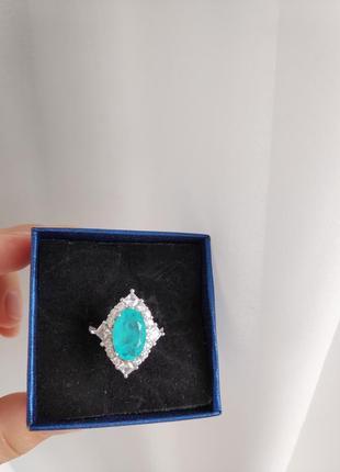 Колечко5 турмалін параіба кольцо турмалин параиба