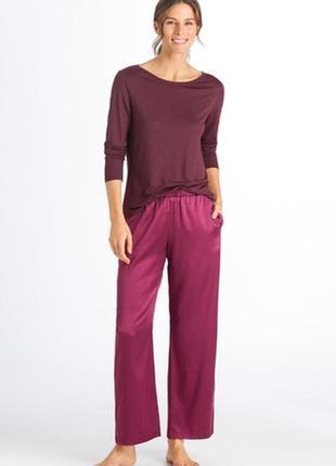 Атласные домашние брюки