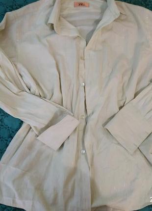 Стильная рубашка,с блестящей нитью, большой размер.