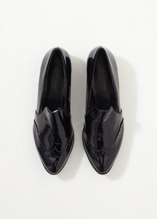 Туфли лоферы лаковые promod ,р 39