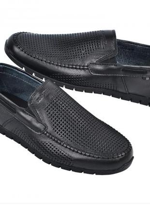 Мокасины, туфли мужские, черные