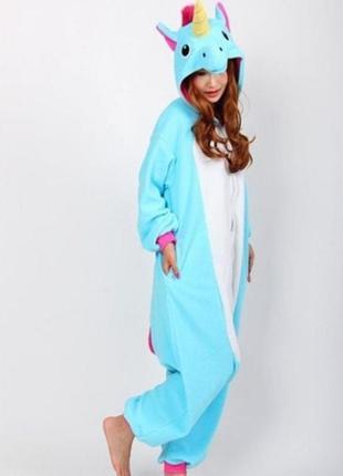 Пижама, домашняя одежда, кигуруми единорог