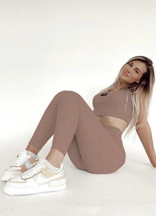 Женский костюм, костюм с брюками, спортивный костюм, костюм с топом5 фото