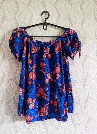 Papaya віскозна блуза із зав'язками та принтом в квіти