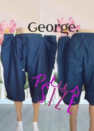 🐞🐞george хлопковые поб 65 женские шорты хлопок батал т синий 20🐞🐞