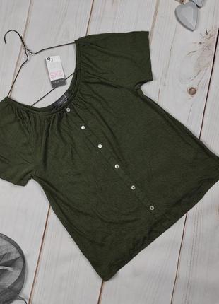 Блуза топ новая трикотажная хаки меленького размера xxs