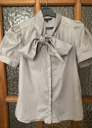 Шикарная блуза с бантом/галстуком рукавов буфом от french connection 🤎