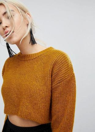 Ультра короткий оверсайз свитер под топы и футболки  new look