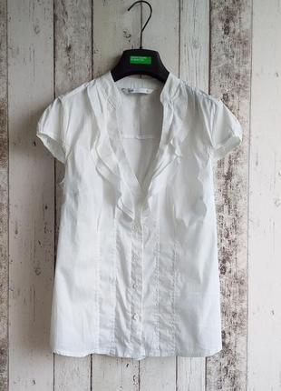 Блуза с воланчиками oodji
