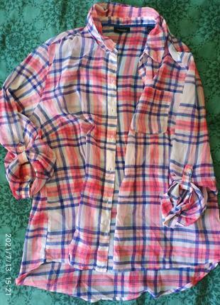 Стильная легкпя летняя рубашка, размер м/л.