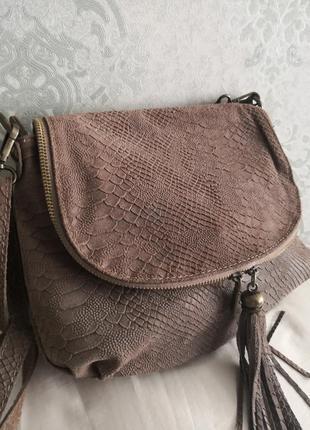 Красивая кожаная сумка genuine leather 👜👜💣🌷🔥